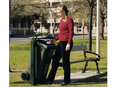 SwingBin bin retention systems enable litter to be disposed of without actually touching the bin
