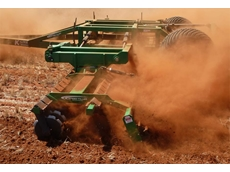 Speedtiller® for Tillage and Soil Conditioning of Soil with High Crop Residue by K-Line Agriculture