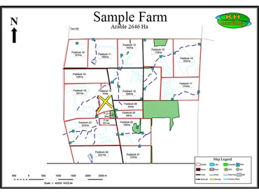 Outline farm maps from KH Consultancy