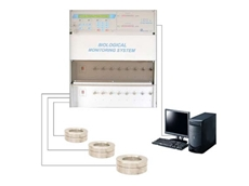 Multipoint Biological Particle Monitoring System for simultaneous microbial air sampling