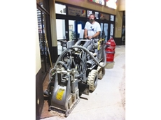 2500R Profiler and Mini Loader Hired from Kennards Concrete Care for Shopping Centre Upgrade