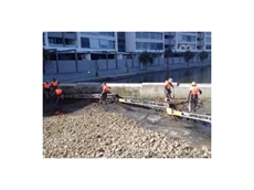 Kennards Hire's conveyors were used to remove rock from a manmade lake