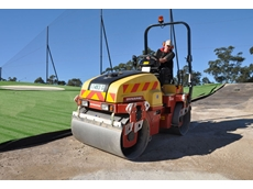 The four tonne roller is used to profile the new golf centre