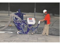 Concrete shot blasters hired from Kennards Concrete Care help refurbish reservoir