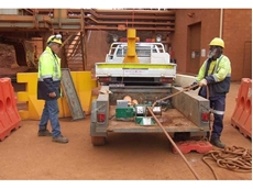 Contractor hires Greenlee electric capstan winch from Kennards Lift & Shift for laying transmission cables
