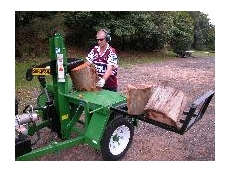 A log splitter from Kennards Hire