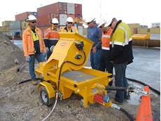 Grout mixer from Kennards Concrete Care attracts attention