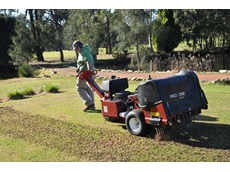 Michael Juleff operates the Kennards' corer at Riverlands Golf Club