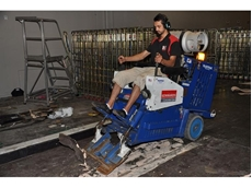 Hired Floor Scrapers from Kennards Concrete Care Tested in Loading Dock