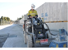 Hired Kennards polyplaner used in Hills M2 motorway upgrade