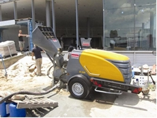 Toro Tiling uses the concrete grout and screed mixer pump from Kennards Concrete Care
