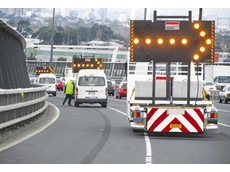 Attenuators from Kennards Hire Traffic on Westgate Bridge