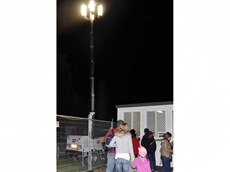 A lighting tower fitted with soft lights at the Hawkesbury Show