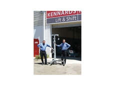 Felipe Bolivar (left) and Allen Besseling at the new Kennards Lift and Shift outlet in Perth
