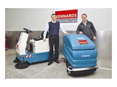 Mauro Compagnoni and Angus Kennard with Tennant machines