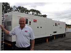 Darren Simmons, general manager of Kennards Pump & Power, with new 350kVA and 500kVA generators.