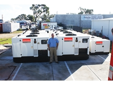 Dean Groves with some of the new units available from Kennards Generators