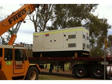 A 500kVA generator is unloaded in Newman
