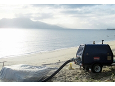 The 150mm pump at work on the Cardwell foreshore
