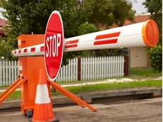 Portaboom portable boom gate for temporary traffic control