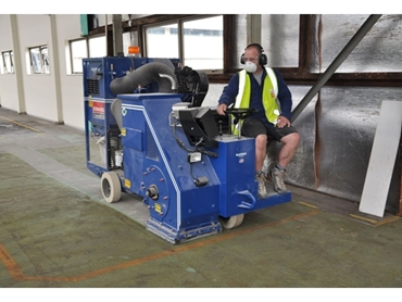 Ride On Shot Blaster Hired From Kennards Concrete Care Saves Time For The Superseal Group