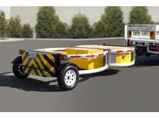 A trailer mounted attenuator from Kennards Hire