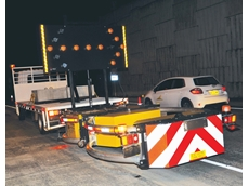 Truck mounted attenuators from Kennards Hire as used on the M2 project