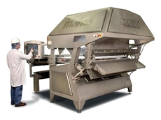 Manta 2000 laser and camera sorters can be fitted with up to eight top mounted cameras, and up to two top mounted lasers