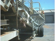 Softwood Plantation's ship loading conveyor.