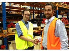 Sean Kinder with Charles Pratt, Operations Manager