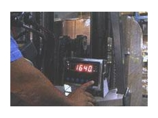 Onboard forklift truck weighing system