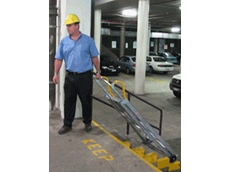 Tilt-n-Tow mobile work platforms are simple to transport single handed