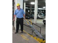Tilt-n-Tow mobile work platforms are simple to transport single handed