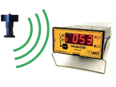 Wireless anemometer display with alarms for Anemo4403 RF / BAT. Panel mount .