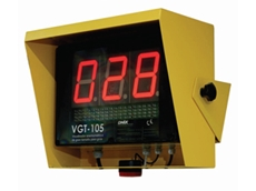VGT-105 large anemometer display units are used for viewing wind speed