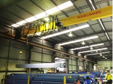 Konecranes CXT crane lifting steel at Adsteel's Adelaide plant