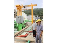 A major exterior crane also involved in the Konecranes servicing partnership