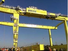 Konecranes Rail Mounted Gantry (RMG) crane being erected in Sydney as part of an order for four RMG cranes for intermodal terminal modernisations in Sydney and Melbourne