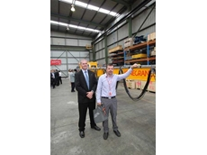 Warren Ashton (Key Account Manager, Konecranes) and Aaron Rumer (Operational Excellence Manager, Westrac) who uses Konecranes extensively