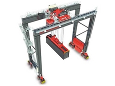 Graphic showing a Konecranes 16-wheel RTG crane