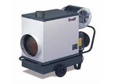 Kroll's new mobile air heaters are powered by diesel, offering efficiencies of over 90%