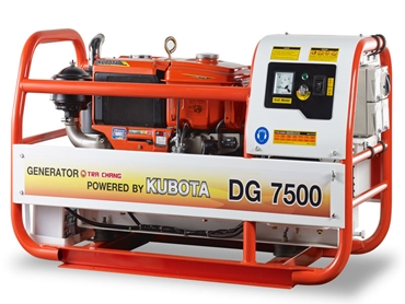 The Kubota DG 7500 is a dependable, robust diesel generator that is designed to produce clean power.