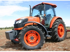 "The new higher ""speced"" 95 horsepower M9540 Dual Speed tractor from Kubota Tractor Australia"