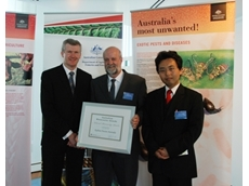 Kubota Tractor Australia recieving Australia Bio-Security Award for action against blue stain fungi