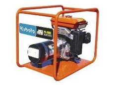 High-visibility safety frame protects the generator.