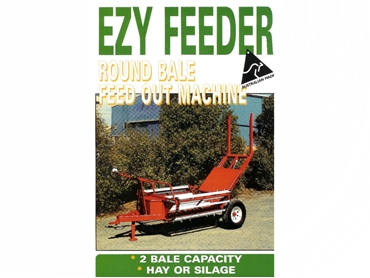 Round Bale Feed Out Machine