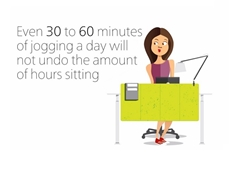 Sitting all day is not good for the body