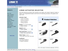 Online Actuator Selector for industrial actuators from LINAK