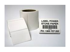 Stone Paper labels require less energy to produce than traditional paper products