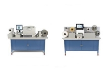 Primera's CX1200 colour label press (left) and FX1200 digital finishing system
